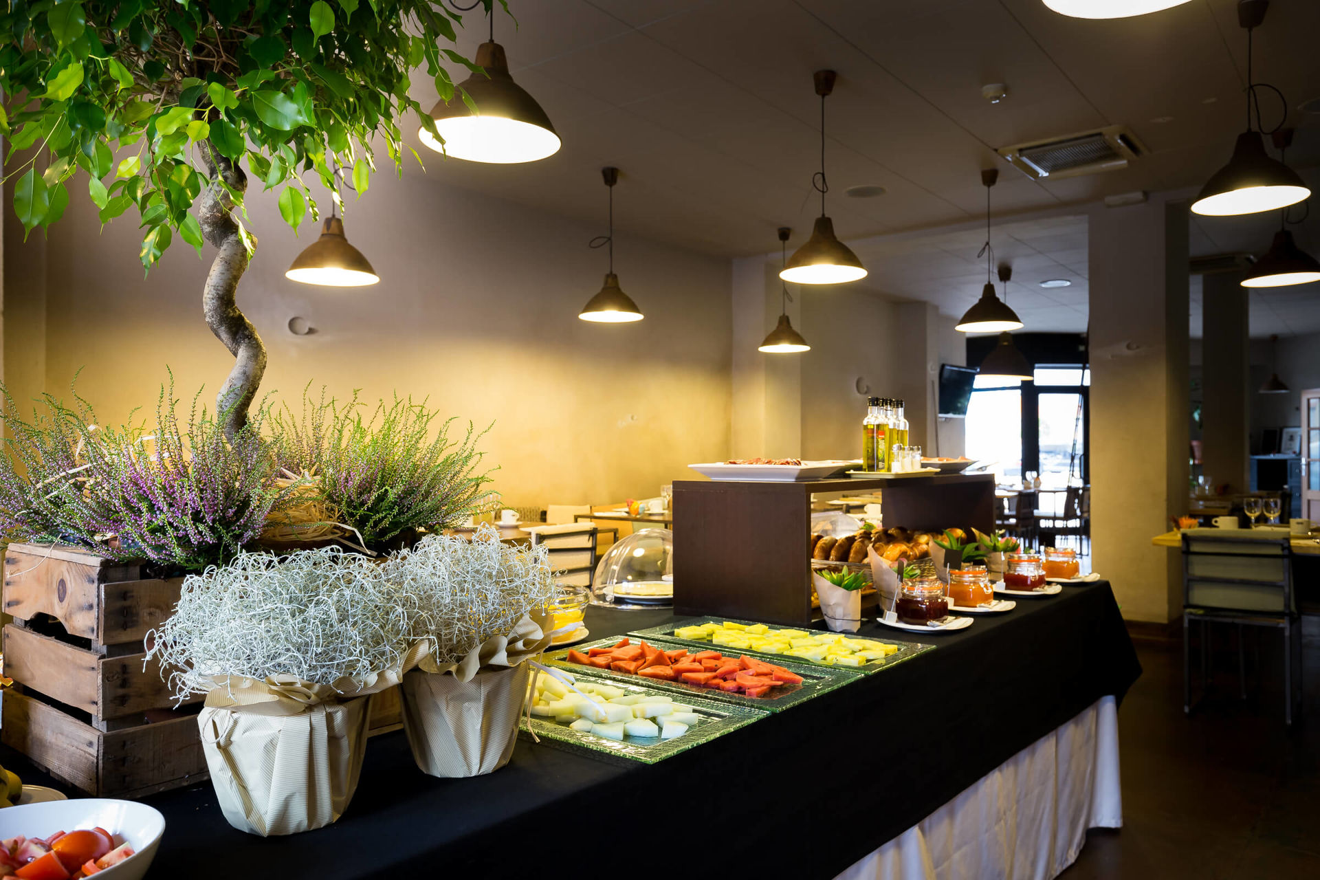 Have a healthy breakfast in our buffet